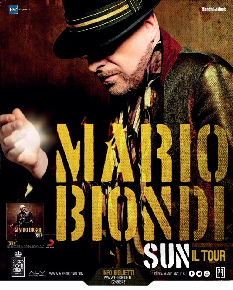 """DOMANI MARIO BIONDI SCALDA L'ARENA DEL MARE DI SALERNO CON """"SUN, IL TOUR"""""""