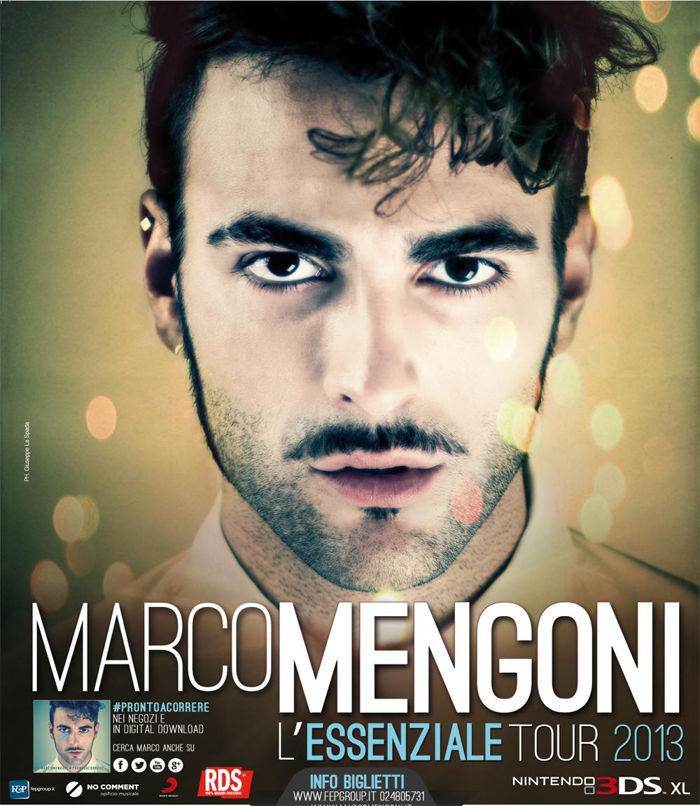 """MARCO MENGONI """"PRONTO A CORRERE"""" AL TEATRO DEI TEMPLI, DOMENICA LA TAPPA DE """"L'ESSENZIALE TOUR 2013"""""""