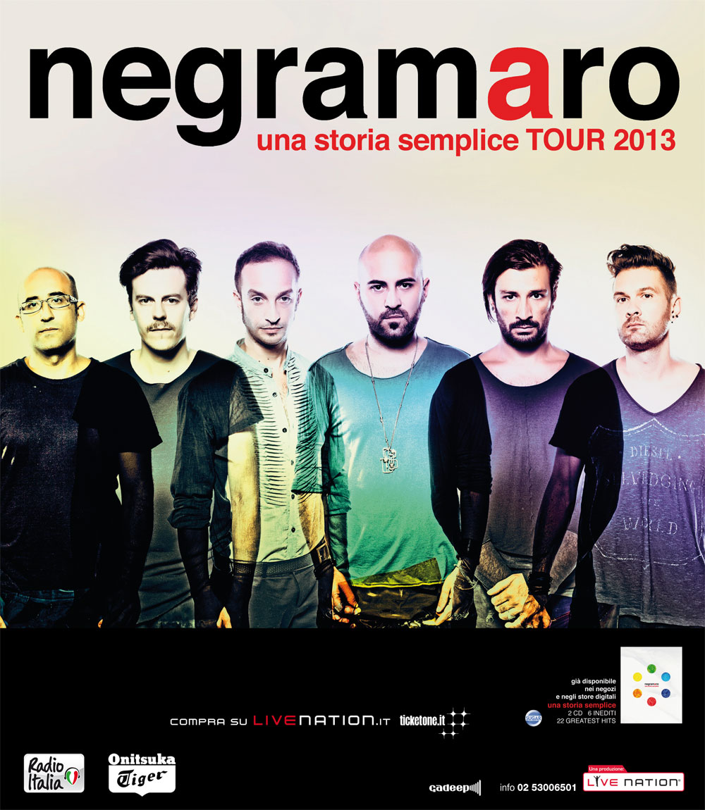 'UNA STORIA SEMPLICE' DEI NEGRAMARO FINALMENTE IN TOUR