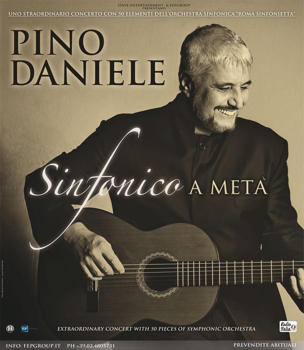 """L'11 LUGLIO PINO DANIELE """"SINFONICO A METÀ"""" ALLA REGGIA DI CASERTA"""