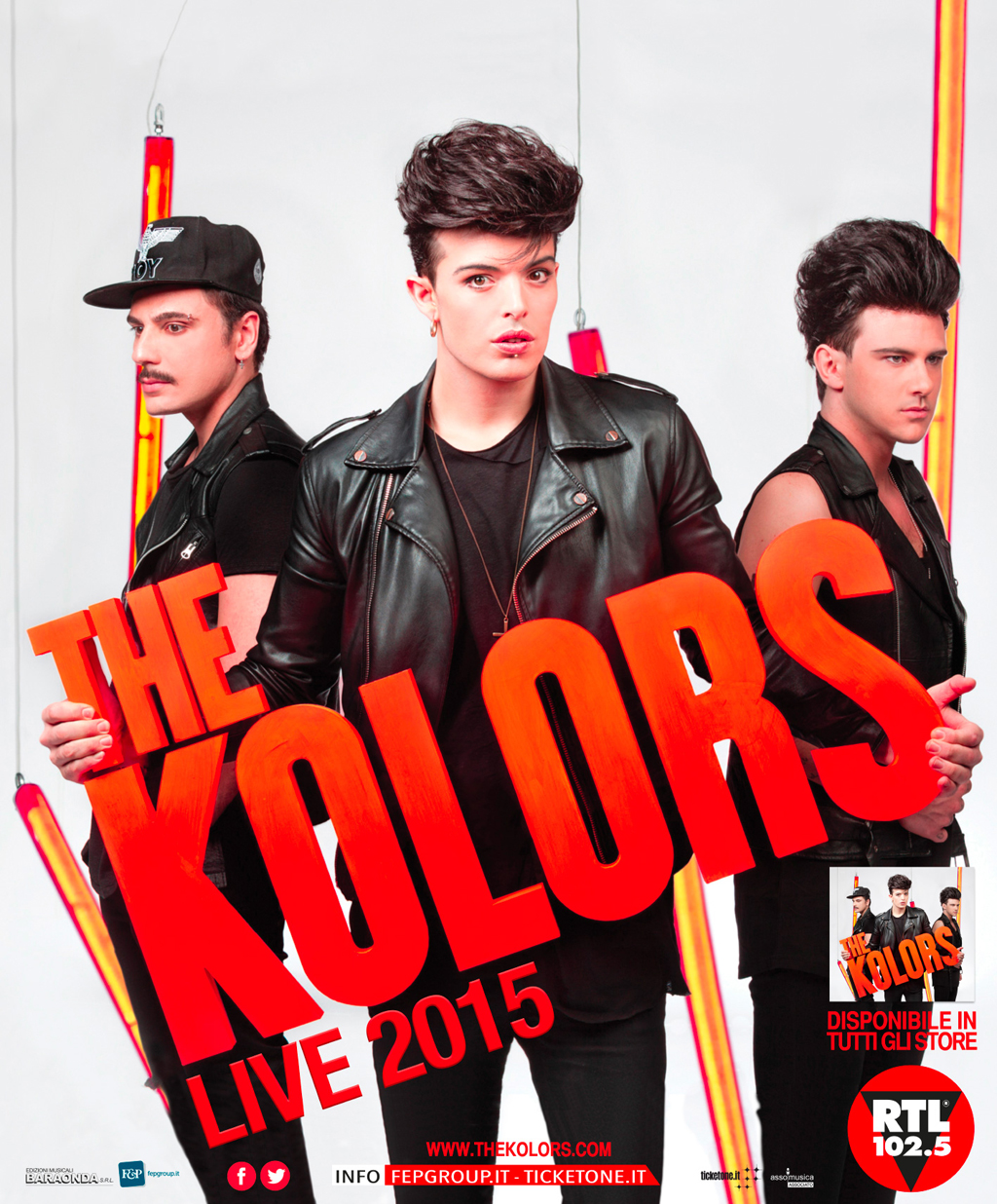 THE KOLORS IL 18 LUGLIO ALL'ARENA DEL MARE DI SALERNO