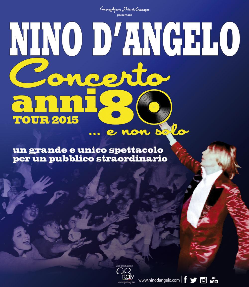 """IL LIVE AMARCORD ANNI '80 DI NINO D'ANGELO E LE """"STELLE A METÀ"""" DI SAL DA VINCI AL TEATRO DEI TEMPLI"""