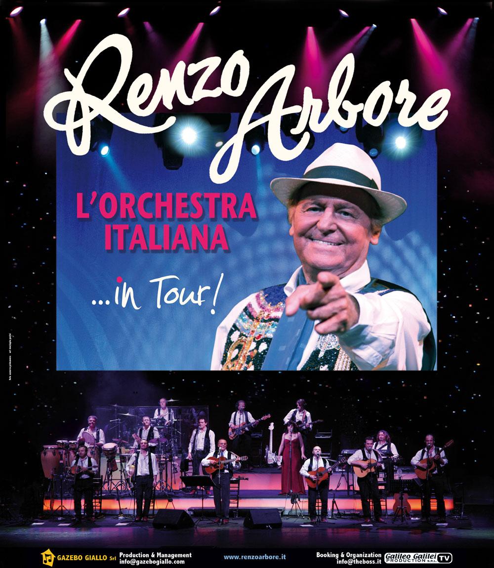 CON RENZO ARBORE E L'ORCHESTRA ITALIANA GRANDE SHOW L'8 APRILE AL PALATEATRO DI NOCERA INFERIONE