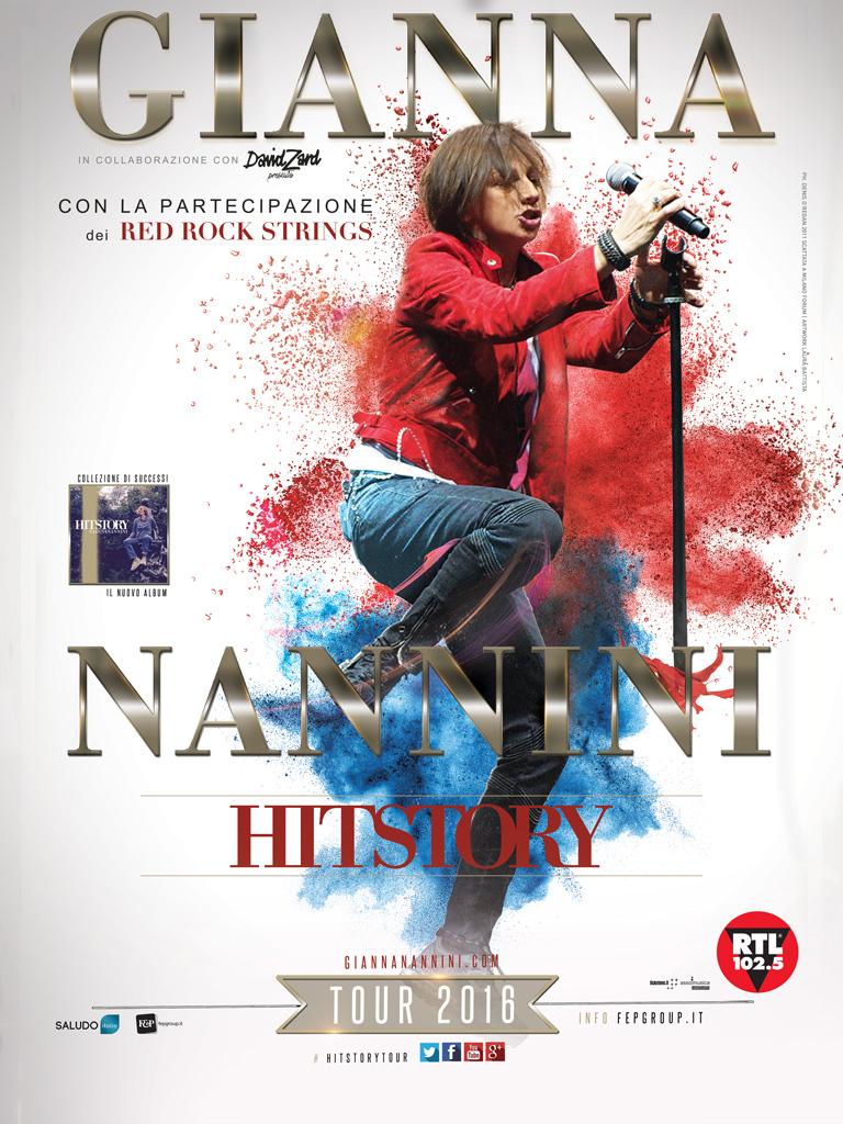 GIANNA NANNINI HITSTORY TOUR 2016,  IL 13 AGOSTO AL TEATRO DEI TEMPLI DI PAESTUM
