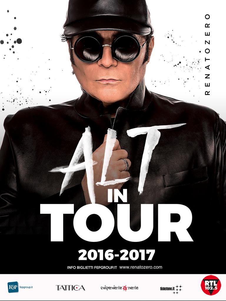 """RENATO ZERO """"ALT IN TOUR"""" ARRIVA ANCHE AL PALASELE, UNICA TAPPA IN CAMPANIA"""