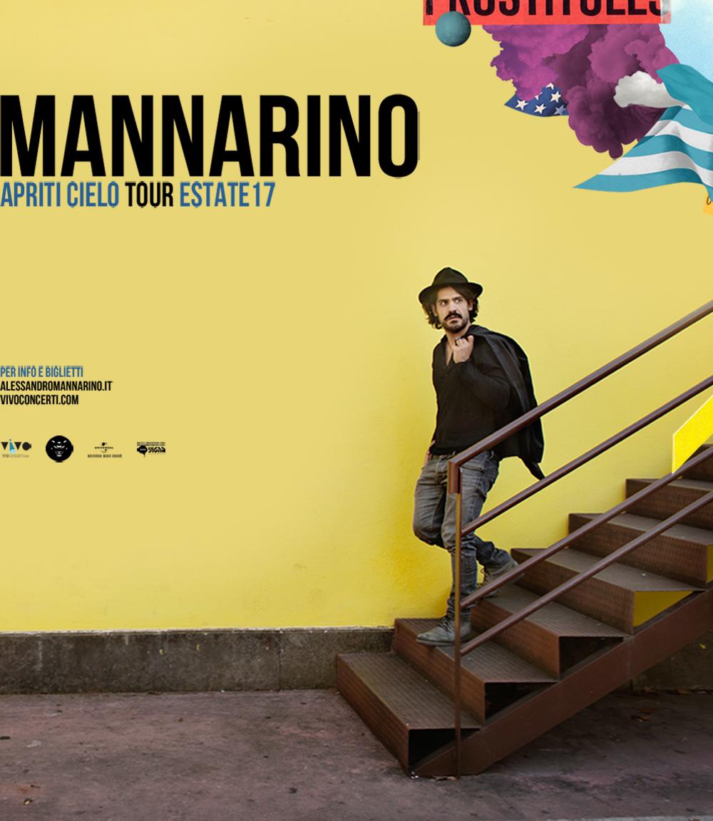 """MANNARINO """"APRITI CIELO TOUR"""", IL 18 LUGLIO ALL'ARENA DEL MARE DI SALERNO"""