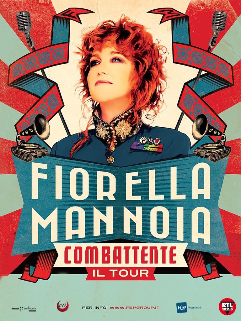 """FIORELLA MANNOIA """"COMBATTENTE IL TOUR""""  Il 22 AGOSTO AL TEATRO DEI TEMPLI DI PAESTUM"""