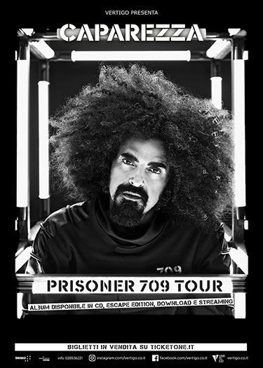 "SOLD OUT PER CAPAREZZA A NAPOLI CON IL ""PRISONER 709 TOUR"""