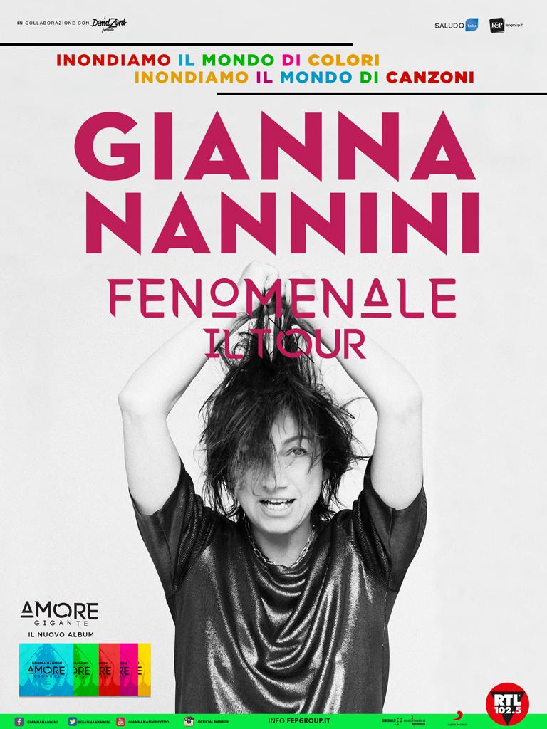 """LA """"FENOMENALE"""" GIANNA NANNINI AL PALASELE, IL 19 APRILE TAPPA A EBOLI CON IL NUOVO TOUR"""