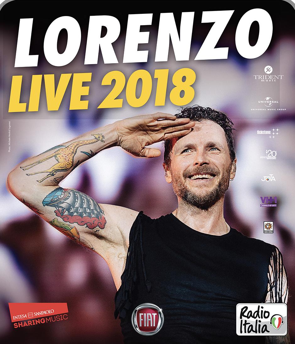 LORENZO LIVE 2018, SARANNO TRE LE SERATE AL PALASELE DI EBOLI, NUOVA DATA  LUNEDÌ 28 MAGGIO!