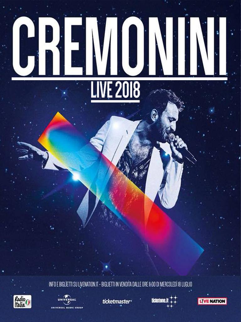 CESARE CREMONINI LIVE 2018, IL 5 DICEMBRE AL PALASELE DI EBOLI