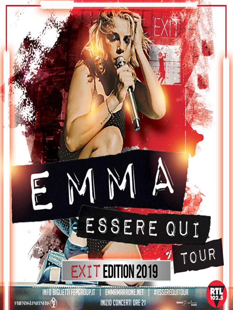 """EMMA IL 18 FEBBRAIO 2019 AL PALASELE DI EBOLI CON """"ESSERE QUI TOUR"""""""