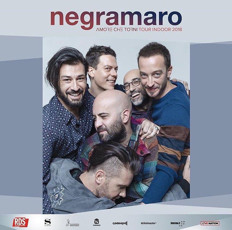 I NEGRAMARO IL 13 DICEMBRE A EBOLI, LA BAND CHIUDE LO STRAORDINARIO CALENDARIO LIVE 2018 DEL PALASELE