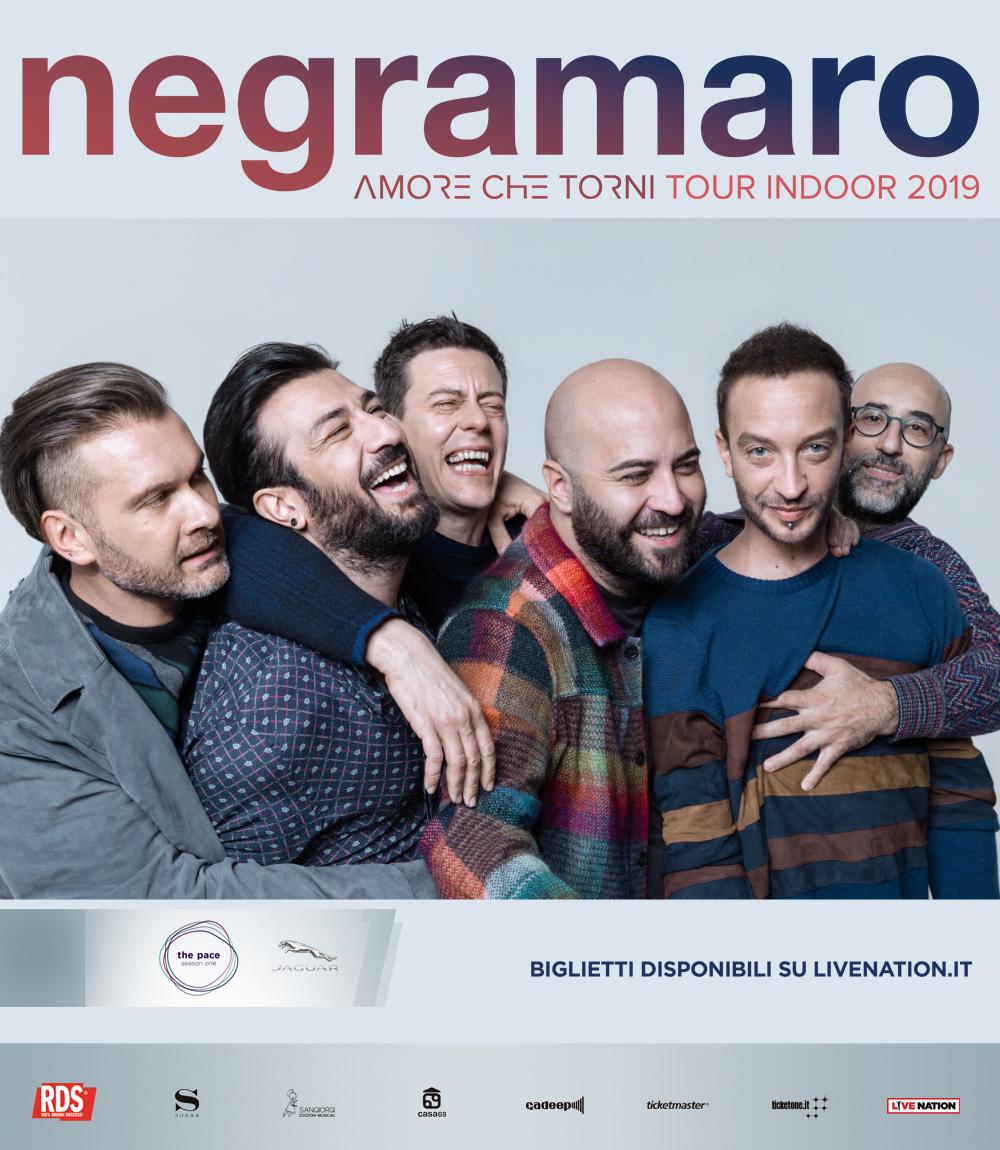 """NEGRAMARO, POSTICIPATO AL 2019 """"AMORE CHE TORNI TOUR INDOOR"""", APPUNTAMENTO AL PALASELE L'11 MARZO"""