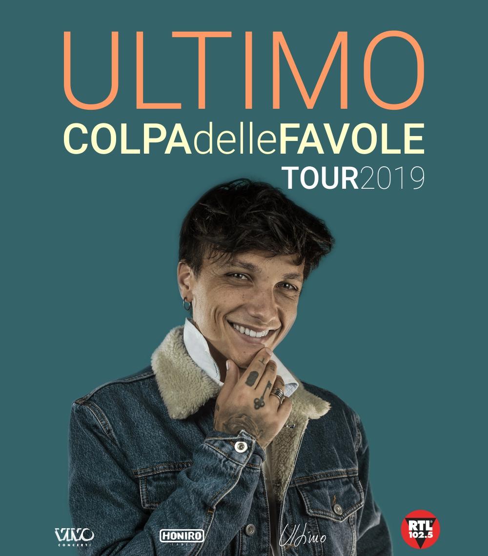 """IL 27 APRILE 2019 ULTIMO APRE A EBOLI IL SUO """"COLPA DELLE FAVOLE TOUR"""""""