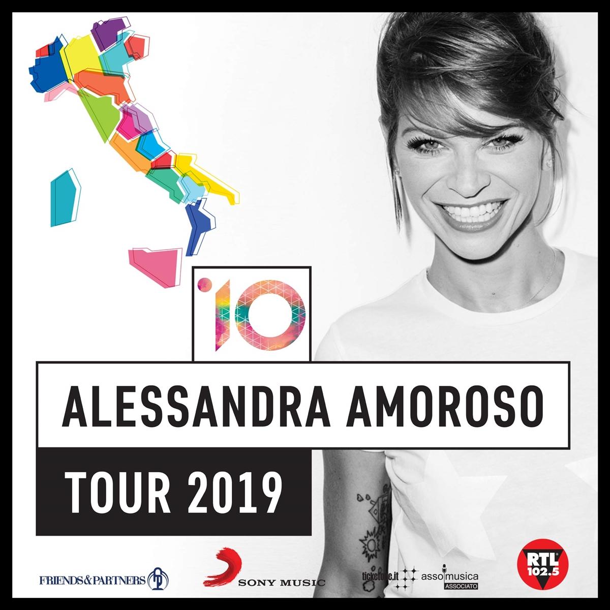 """DOMANI ALESSANDRA AMOROSO TORNA AL PALASELE CON """"10 TOUR"""", SOLD OUT BIS PER L'ARTISTA"""