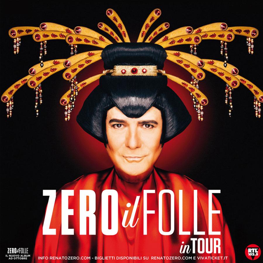 """""""ZERO IL FOLLE IN TOUR"""",  IL GRANDE RITORNO DI RENATO ZERO: DOPPIA DATA AL PALASELE A GENNAIO 2020"""