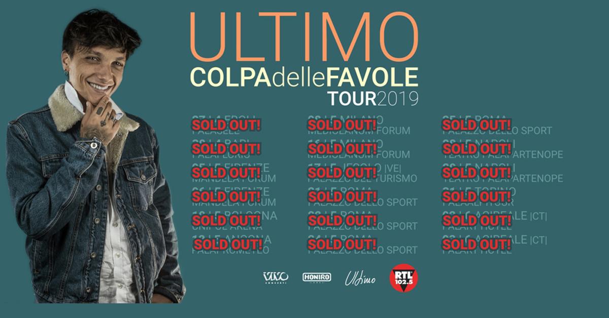 COLPA DELLE FAVOLE TOUR 2019