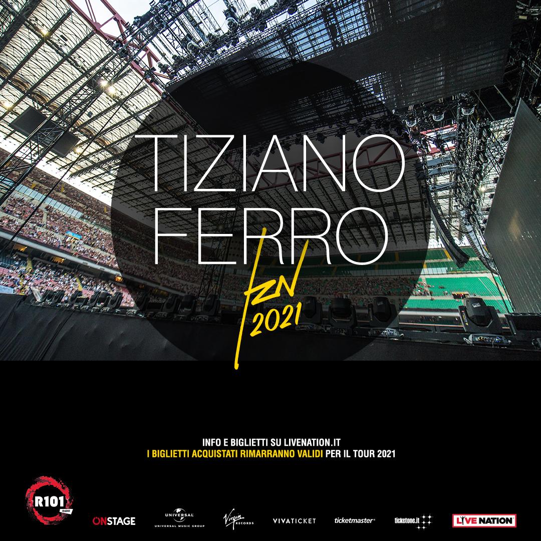TIZIANO FERRO: TOUR RIPROGRAMMATO NEL 2021