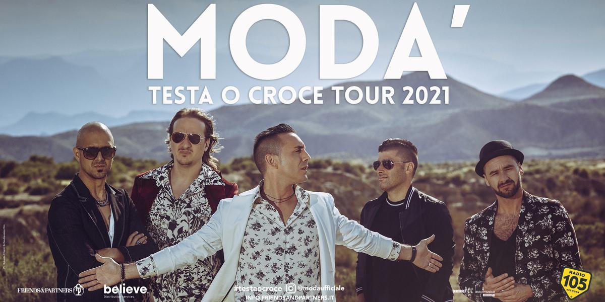 """MODÀ, POSTICIPATO IL """"TESTA O CROCE TOUR"""": APPUNTAMENTO AL PALASELE IL 5 OTTOBRE 2021"""