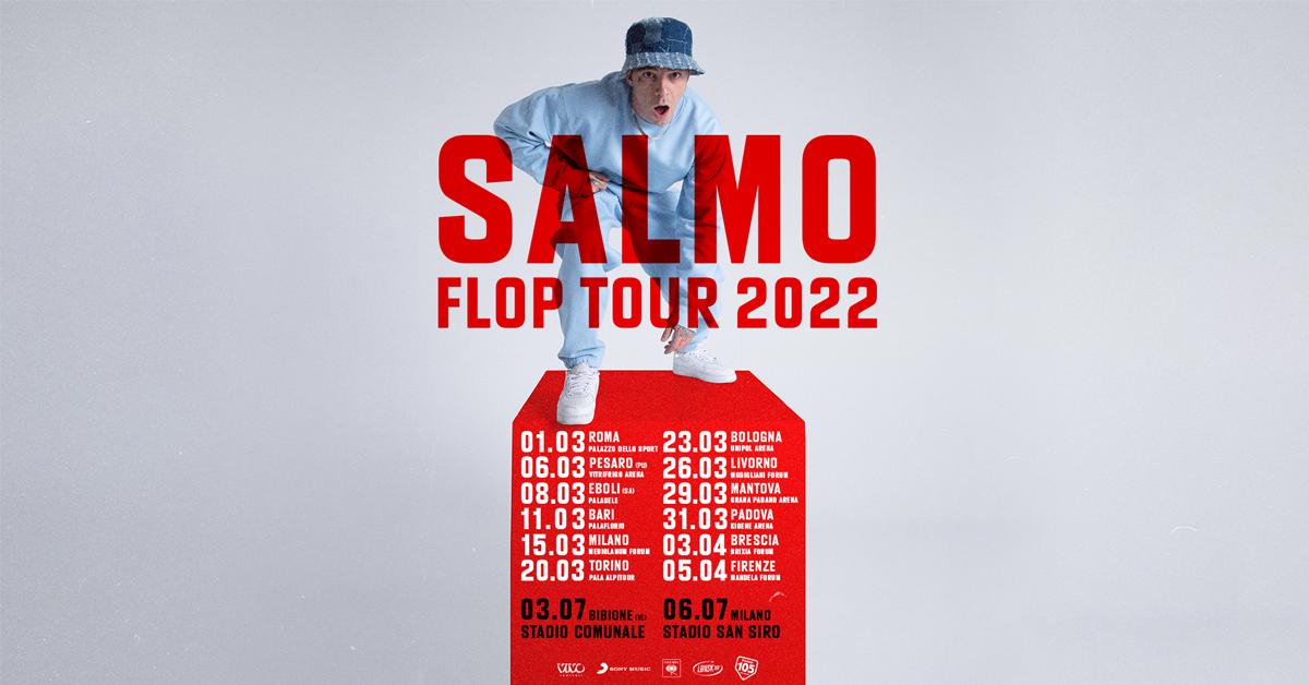 SALMO ANNUNCIA IL FLOP TOUR,  TAPPA A EBOLI l'8 MARZO 2022