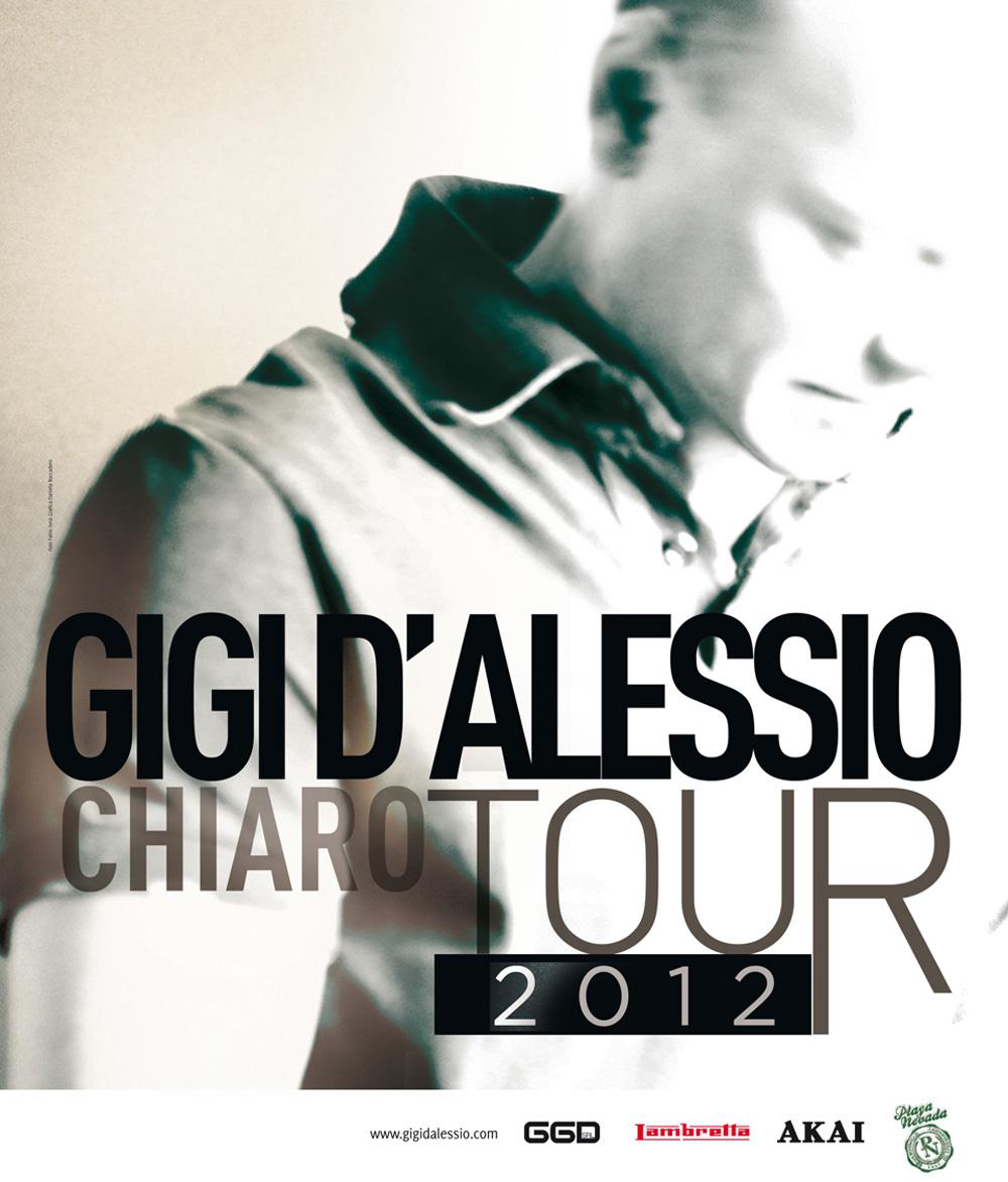 GIGI D'ALESSIO IL 16 NOVEMBRE AL PALASELE CON IL SUO CHIARO WORLD TOUR 2012