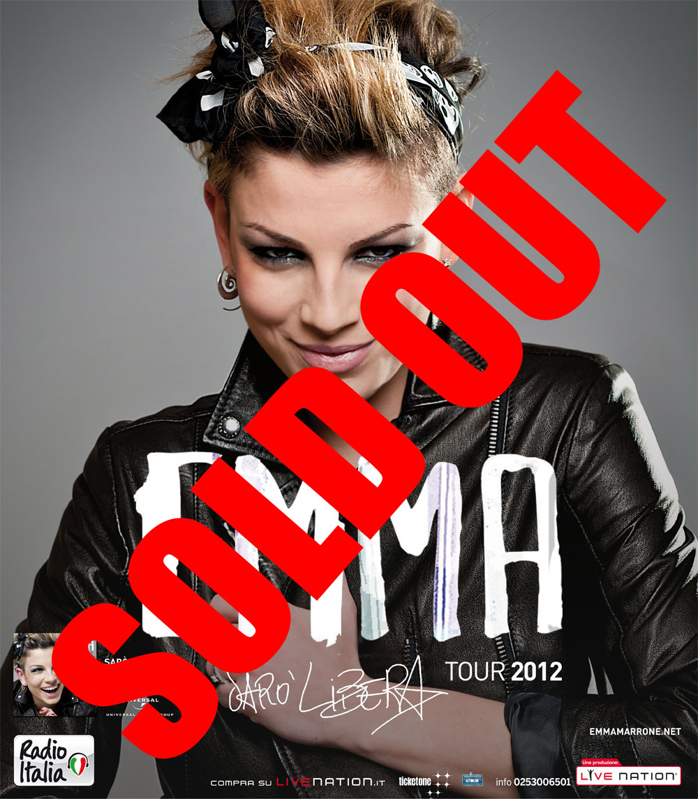 STREPITOSO SOLD OUT DI EMMA A PAESTUM